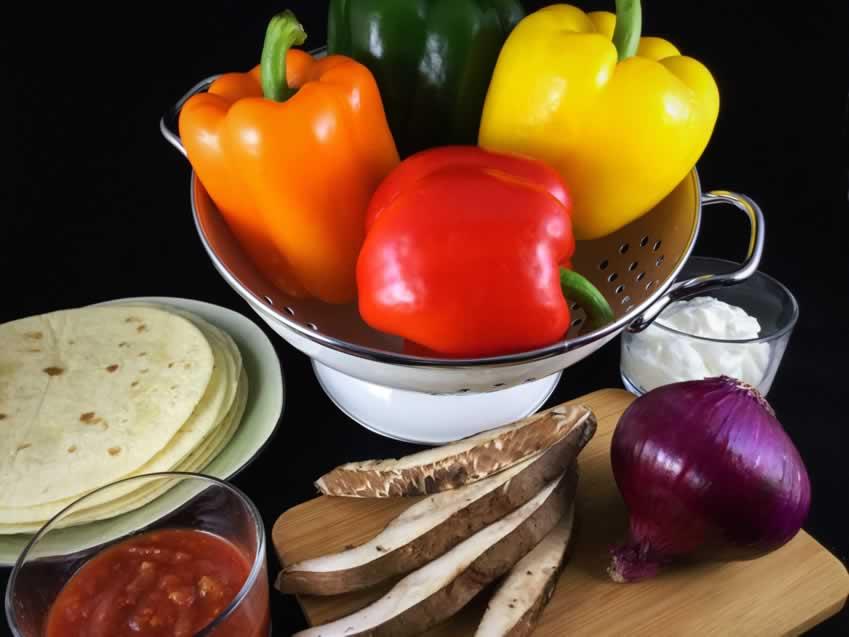 Vegan Fajita Ingredients