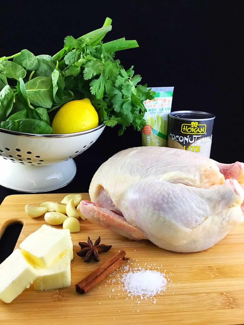 Chicken in Coconut Milk with Lemongrass Ingredients