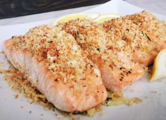 Garlic Panko Salmon