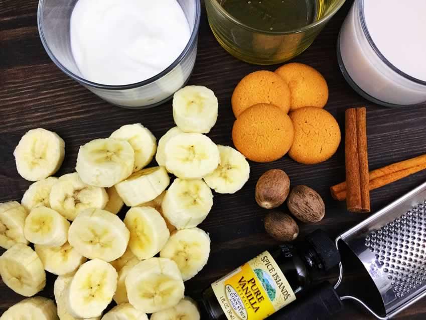 Healthy Banana Cream Pie Smoothie Ingredients