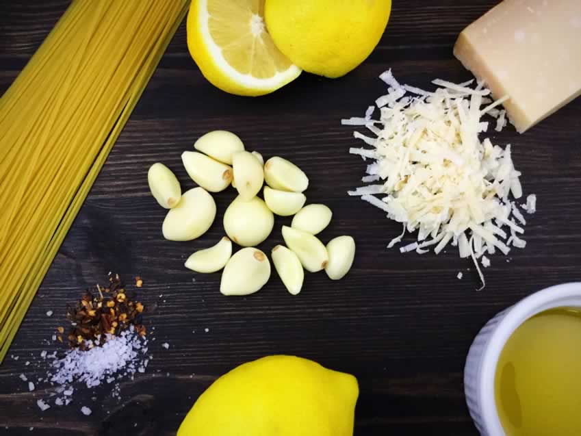 Lemon Garlic Pasta Ingredients
