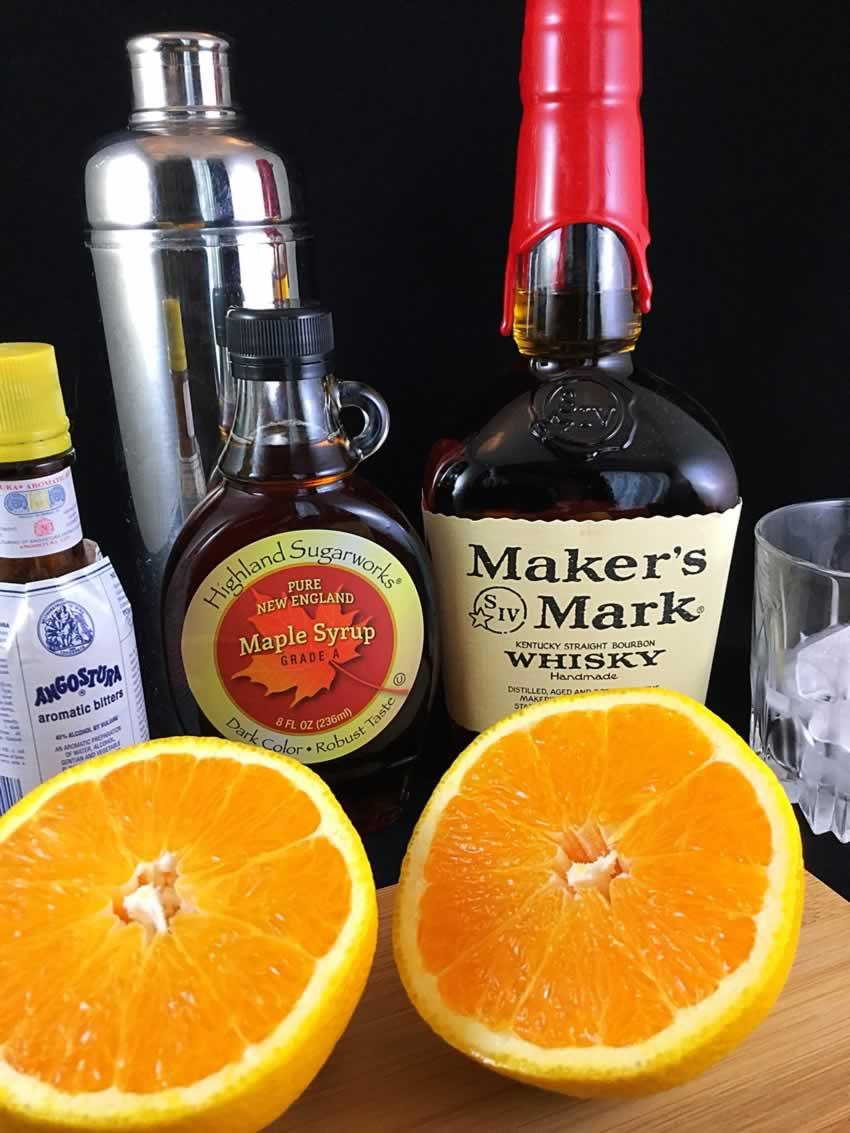 Maple Bourbon Cocktail Ingredients