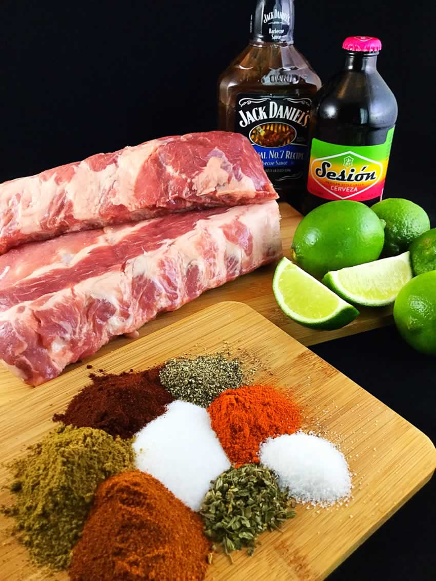 Perfectly Tender Barbecue Ribs Ingredients