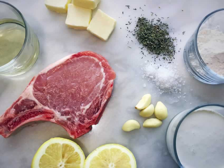 Pork Chops with Lemon Thyme Cream Sauce Ingredients