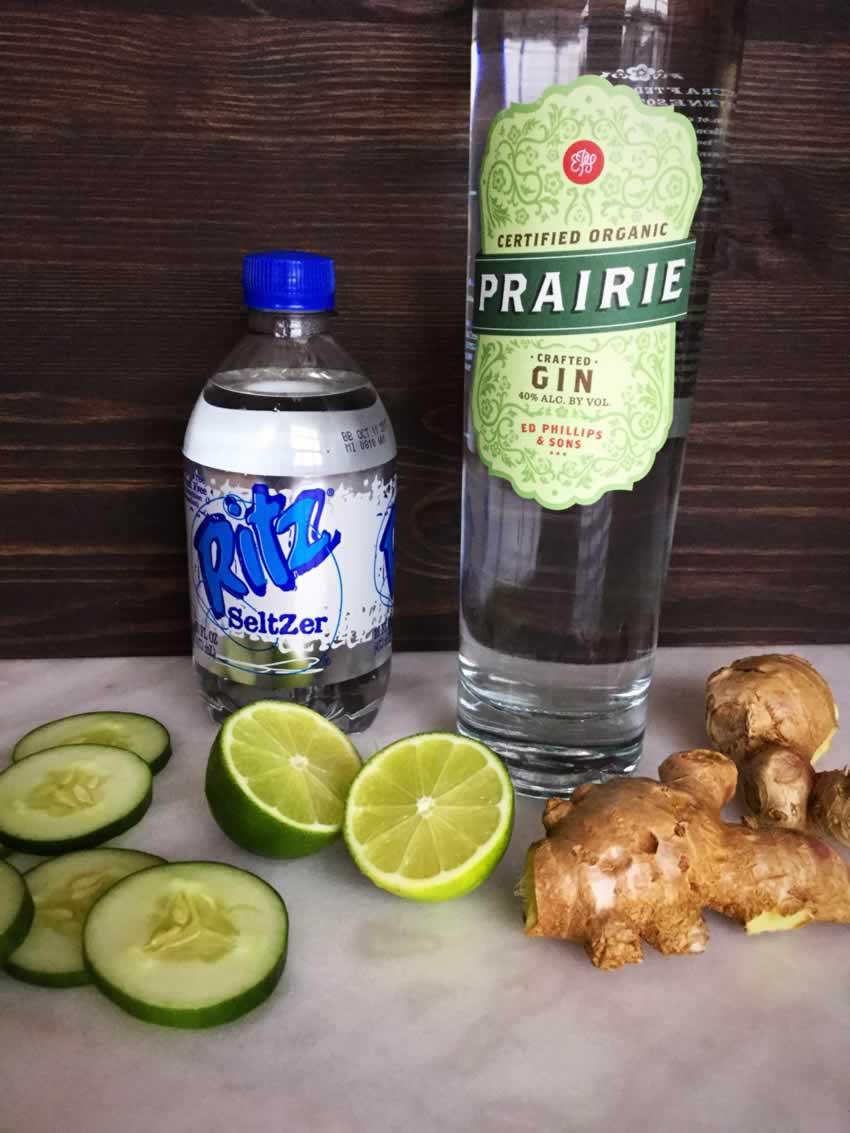 Tart & Crisp Cucumber Gin Fizz Ingredients