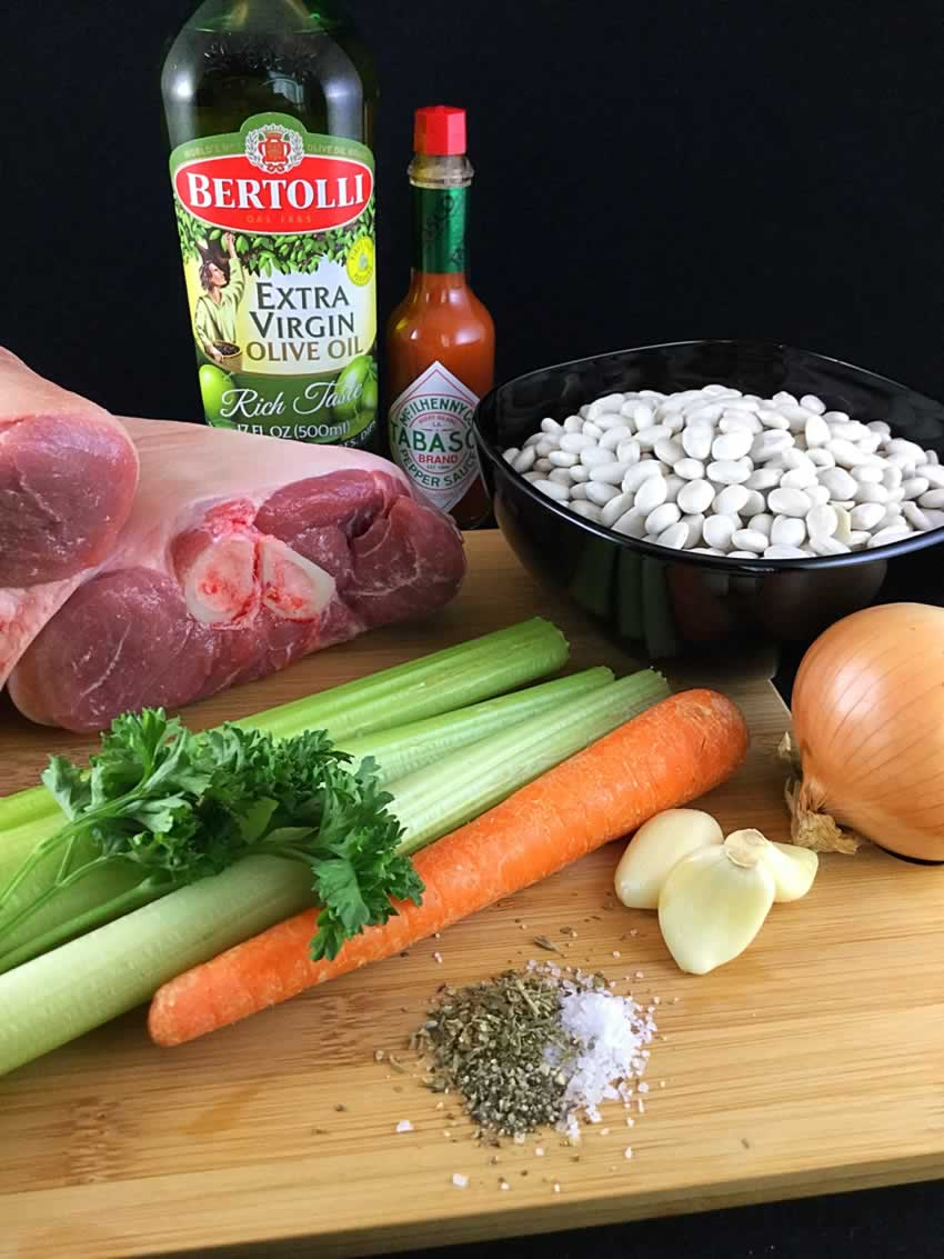 White Bean and Ham Soup Ingredients