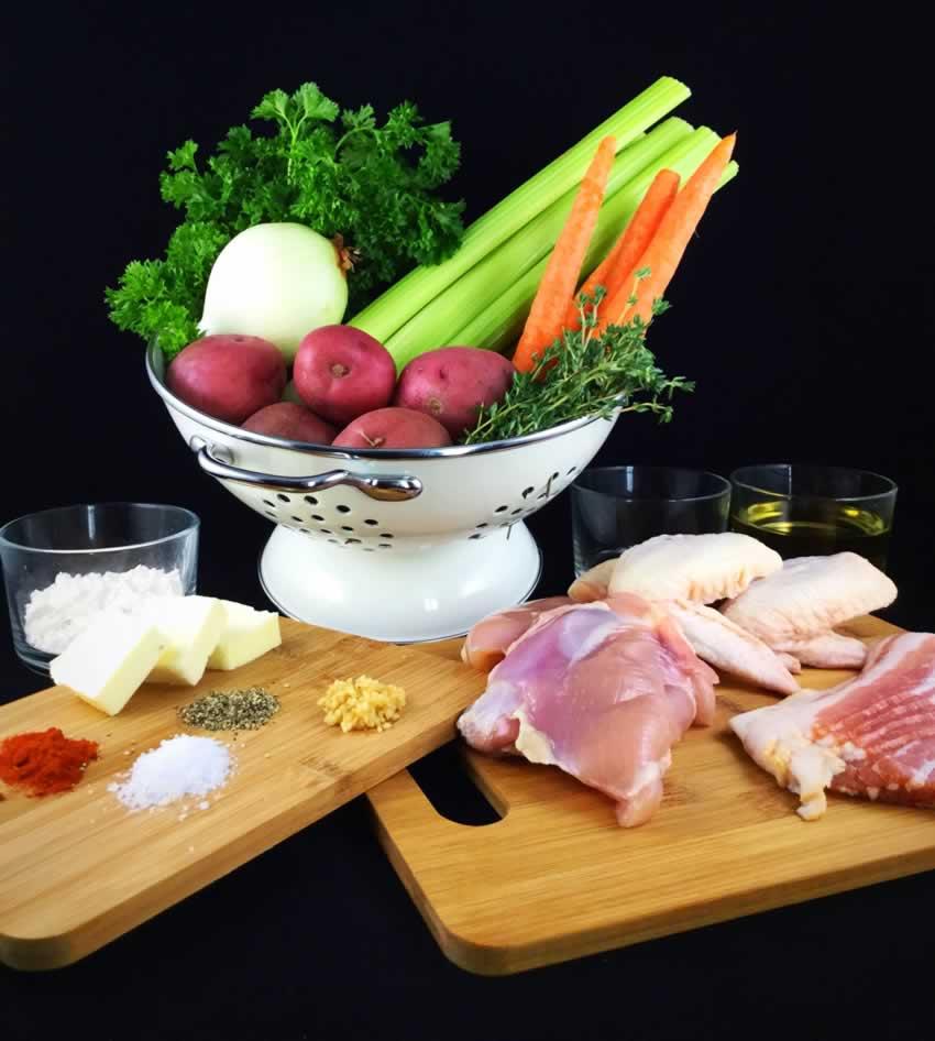 White Wine Chicken Stew Ingredients