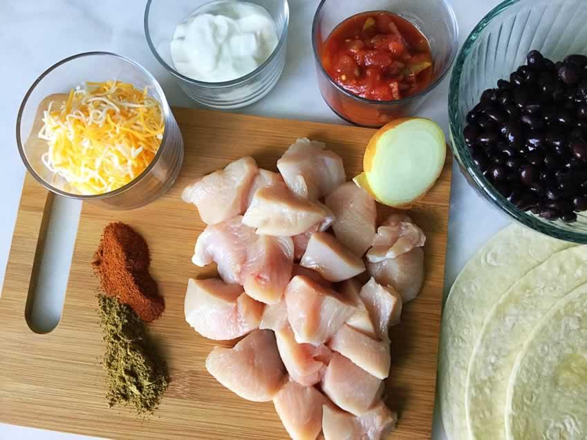 20 Minute Healthy Chicken Burritos Ingredients