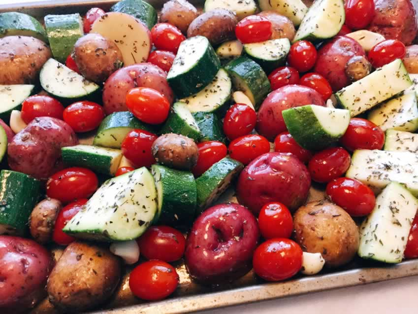 Italian Oven Roasted Vegetables Step 3