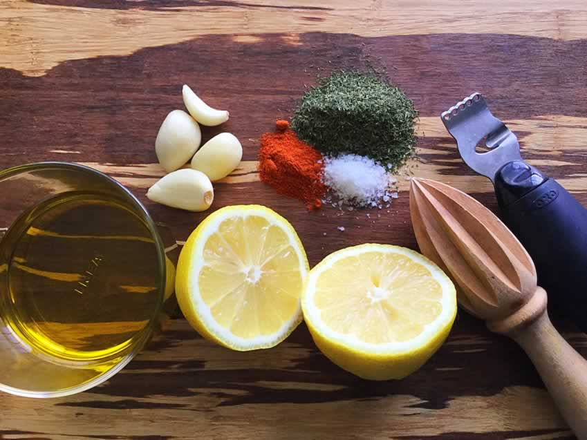 Lemon Garlic Marinade Ingredients