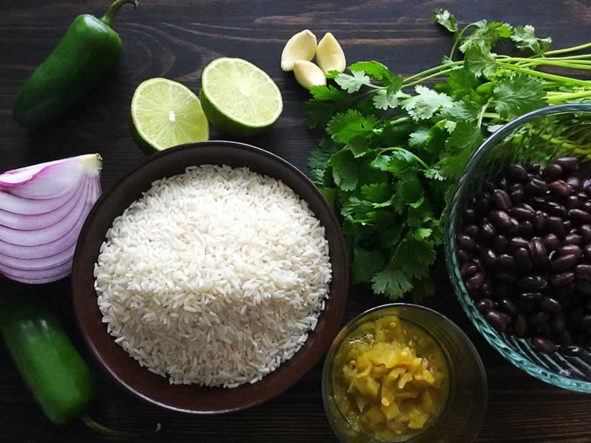 One Pan Cilantro Lime Rice Ingredients