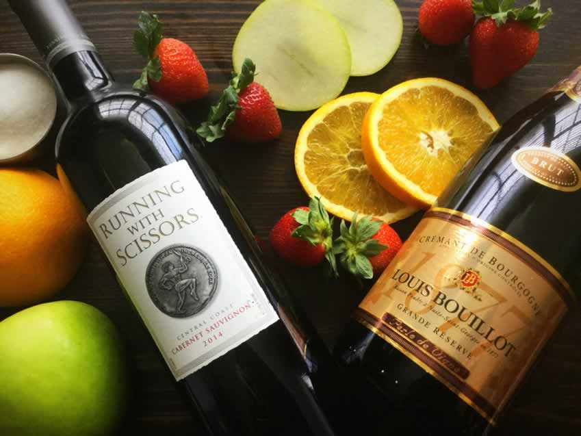 Red Wine Champagne Sangria Ingredients