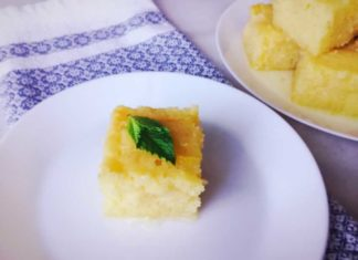 Turkish Semolina Cake in Syrup (Revani)