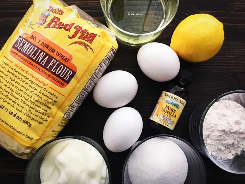Turkish Semolina Cake in Syrup (Revani) Ingredients