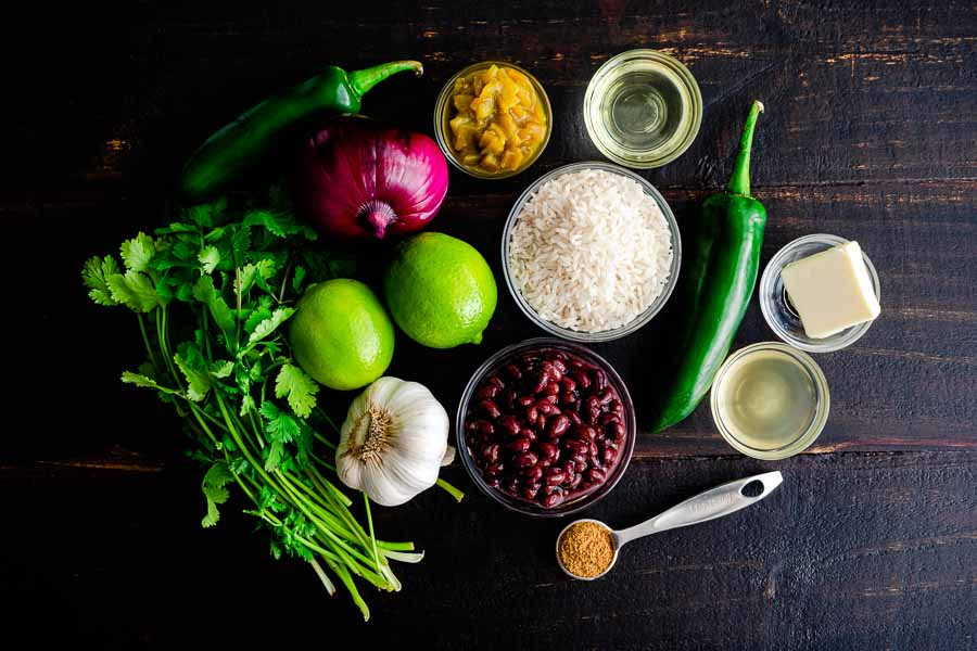 One Pan Cilantro Lime Rice (With Black Beans) Ingrediets