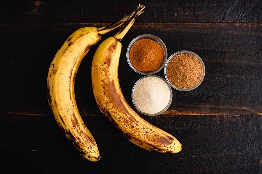 Pan Fried Cinnamon Bananas Ingredients