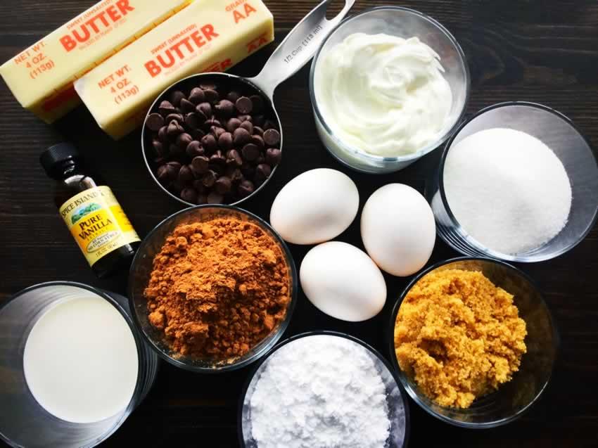 Greek Yogurt Chocolate Fudge Cupcakes Ingredients