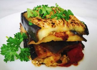 Imam Bayildi: Turkish Eggplant Casserole with Tomatoes