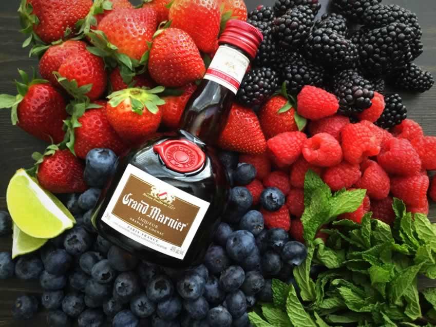Grand Marnier Berry Salad Ingredients