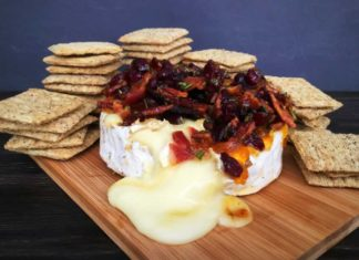 Bacon Cranberry Baked Brie