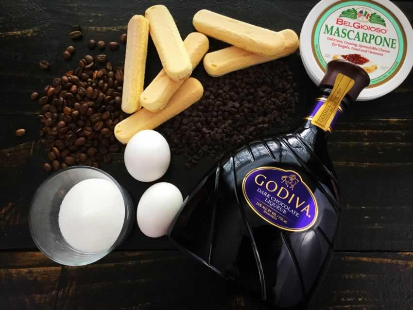 Chocolate Tiramisu Ingredients