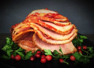 Oven-Roasted Cranberry-Dijon Glazed Ham
