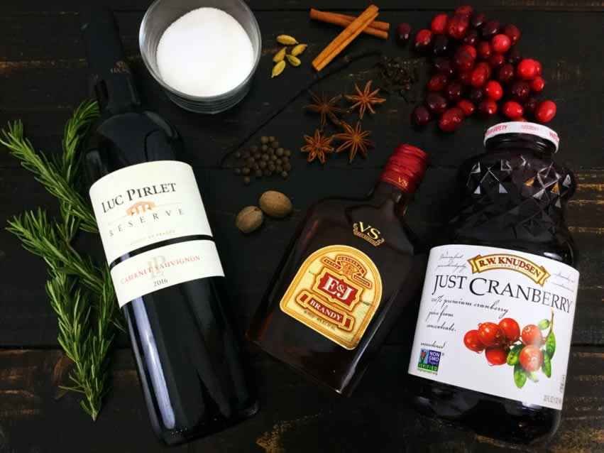 Slow Cooker Mulled Wine Ingredients