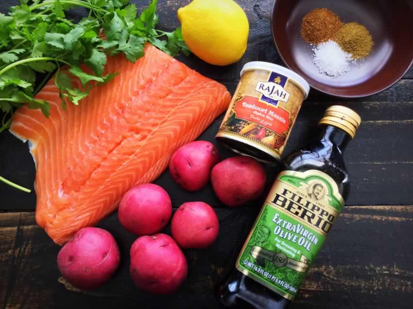 Tandoori Salmon Ingredients