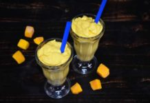 3 Ingredient Mango Coconut Milkshake