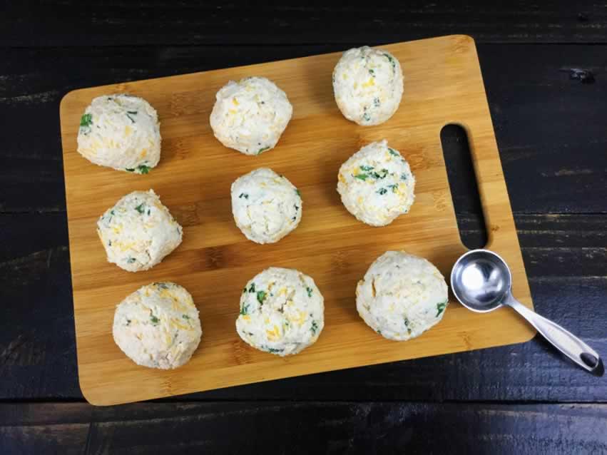 Cheddar herb dumplings
