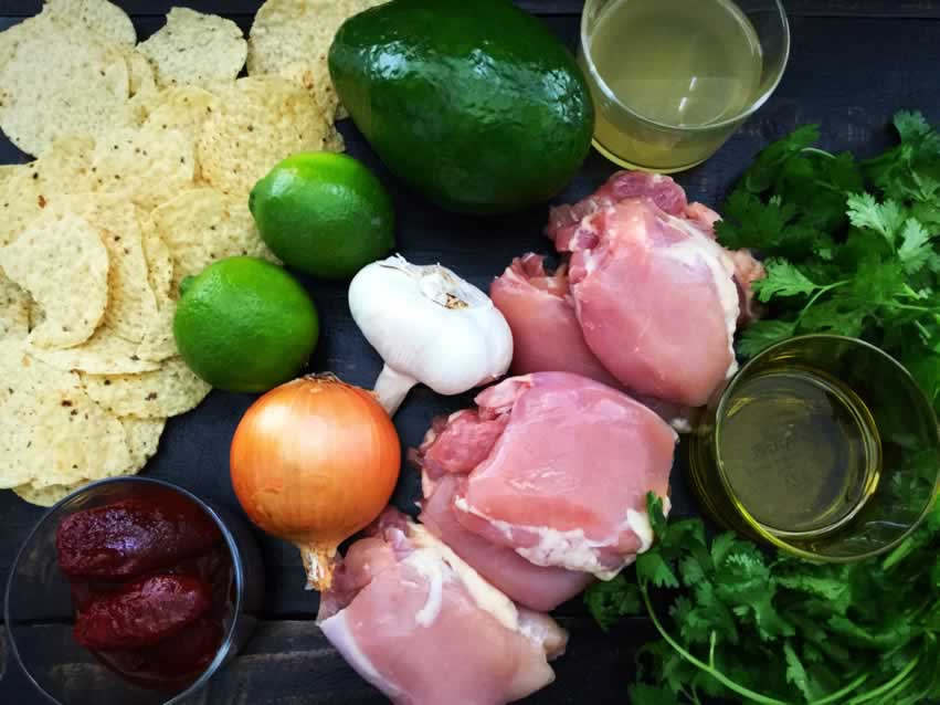 Mexican Chicken Lime Soup Ingredients