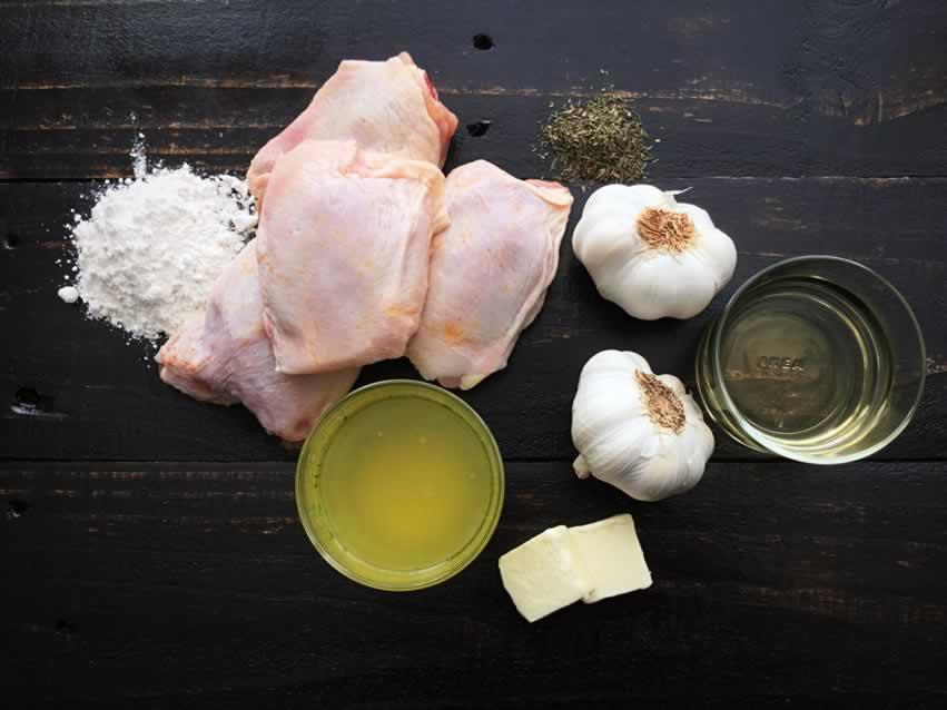 Rustic Chicken with Garlic Gravy Ingredients