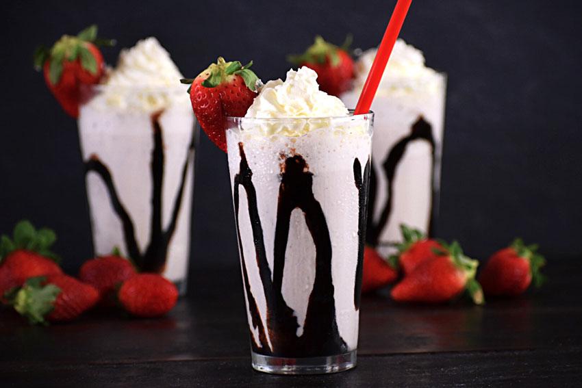Bourbon Strawberry Milkshake