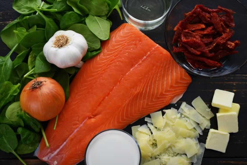 Creamy Garlic Butter Tuscan Salmon Recipe Ingredients