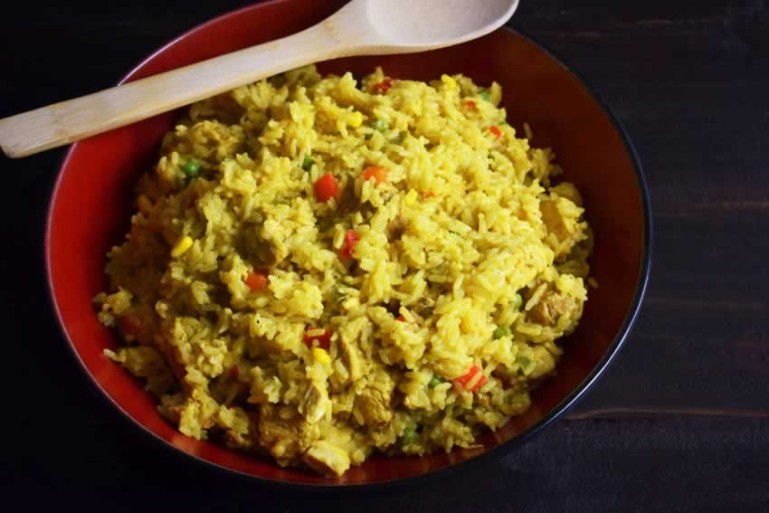 One Pot Cuban Yellow Rice (with Chicken and Sausage)