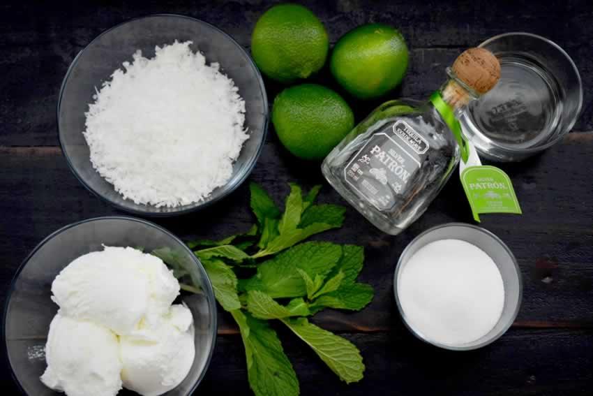 Coconut Mint Margarita Ingredients
