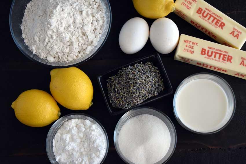Lemon Lavender Cupcakes Ingredients