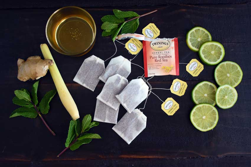 Ginger and Lemongrass Iced Tea Inredients