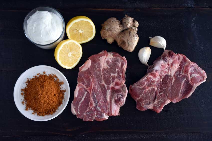 Karachi Masala Lamb Chops Ingredients