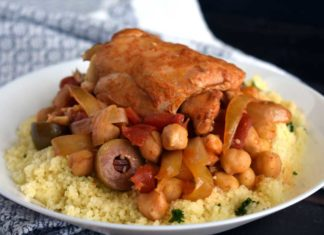 Moroccan Slow Cooker Chicken Stew with Chickpeas