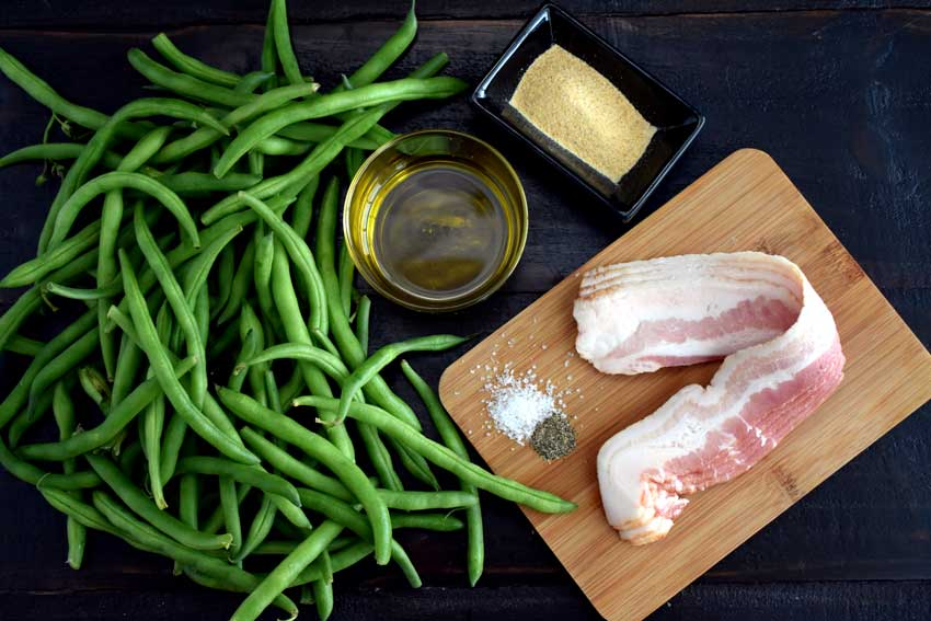 Bacon Wrapped Green Bean Bundles Ingredients