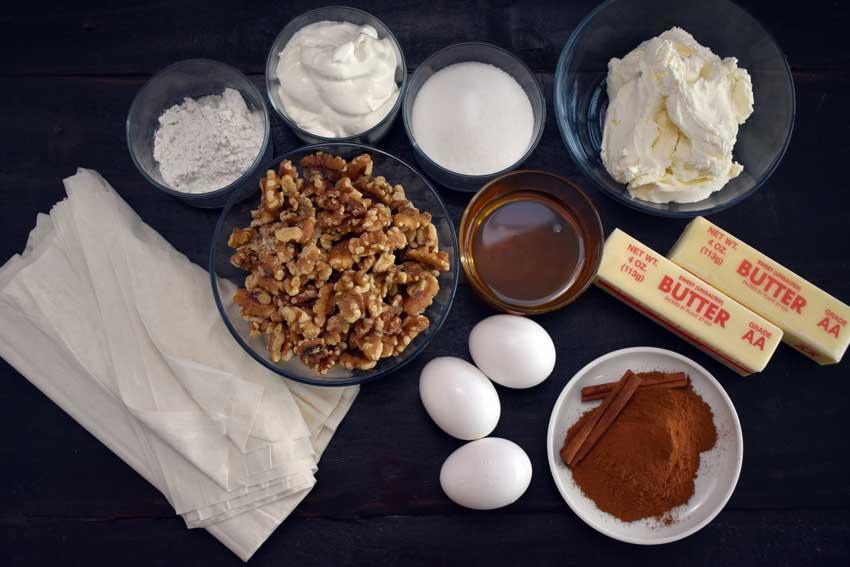 Baklava Cheesecake Ingredients