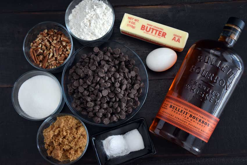 Boozy Bourbon Chocolate Chippers Ingredients