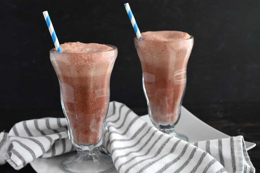 Dark Chocolate Bourbon Cherry Soda Floats