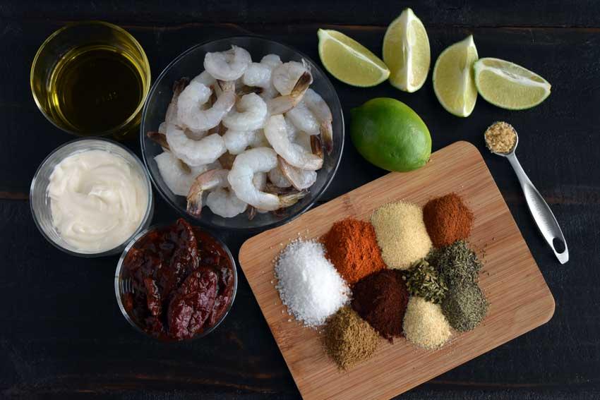 Louisiana Cajun Shrimp with Chipotle Mayonnaise Ingredients