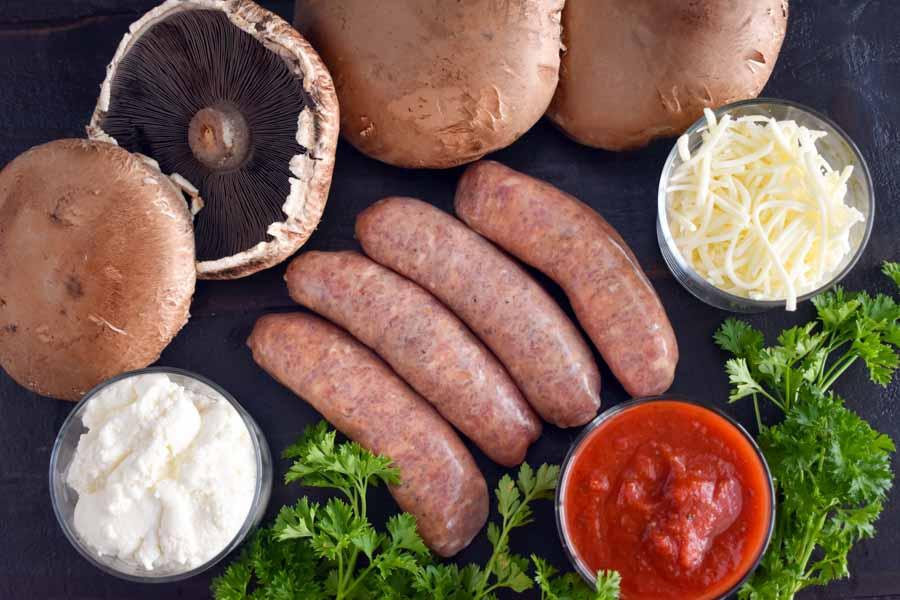 Easy Keto Lasagna Stuffed Portobello Mushrooms Ingredients
