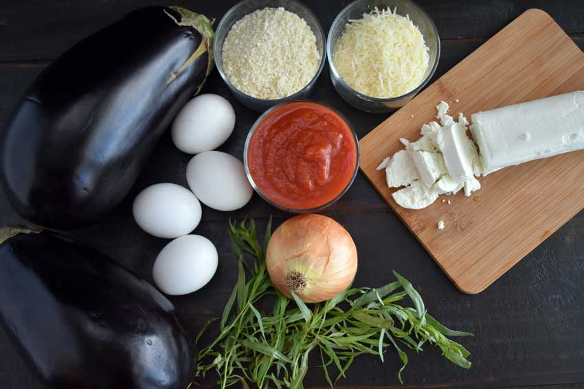 Eggplant and Goat-Cheese Sandwiches with Tomato Tarragon Sauce Ingredients