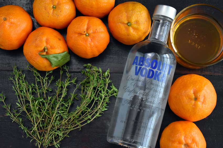 Tangerine & Honey Thyme Martini Ingredients