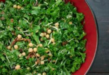 Greek Kale Salad with Creamy Tahini Dressing