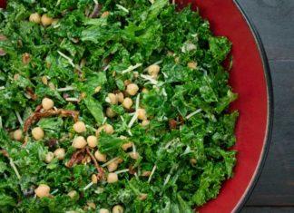 Greek Kale Salad with Creamy Tahini Dressing